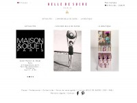Le site de  Belle de Sucre, Claire Vincent créatrice de sucre