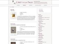 Le site de  Artalapage, Galerie Edition